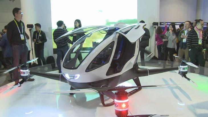 Vu au CES de Las Vegas: un drone transporte des passagers