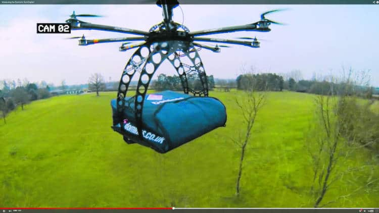 drone livreur sac isotherme