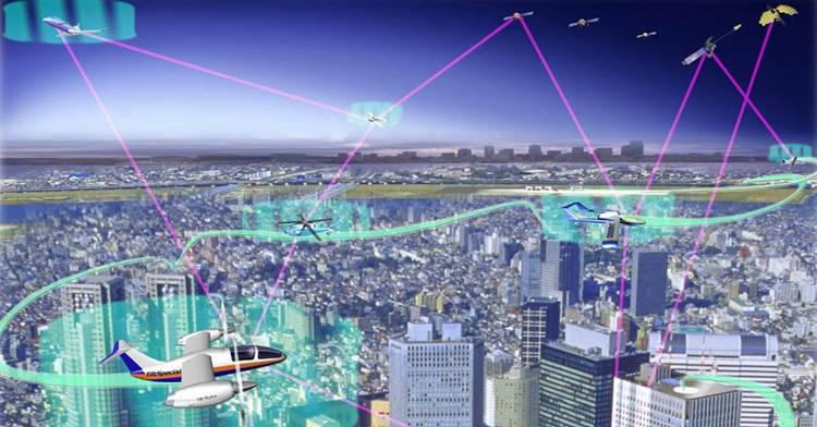 robots et drones dans la ville