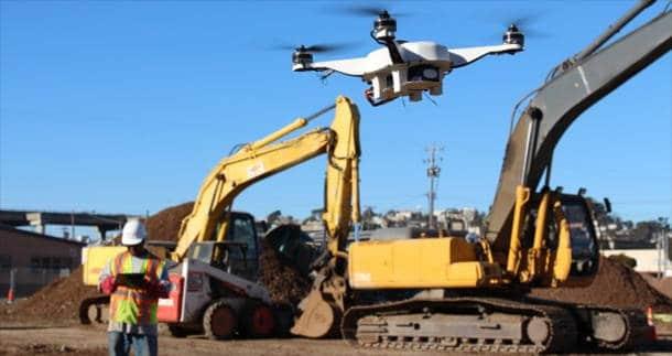 les drones utilisés dans le secteur du BTP