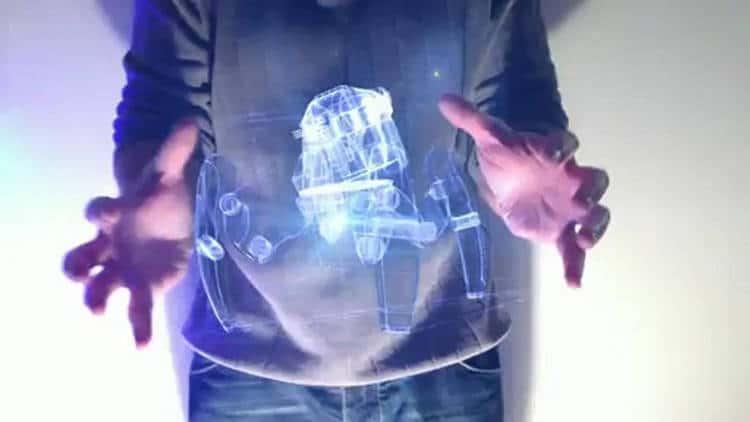 un hologramme dans mon téléphone