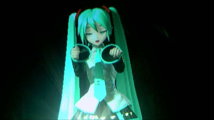 hologramme 3d Hatsune Miku