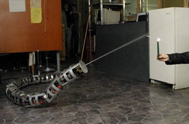 le robot pompier