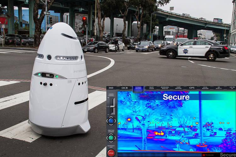 Knightscope-K5 Le robot de surveillance aurait frappé l'enfant à la tête avant de continuer son chemin
