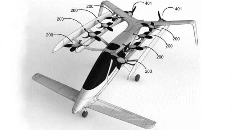 Les photos volées de la startup mystère de Larry Page montre des voitures volantes