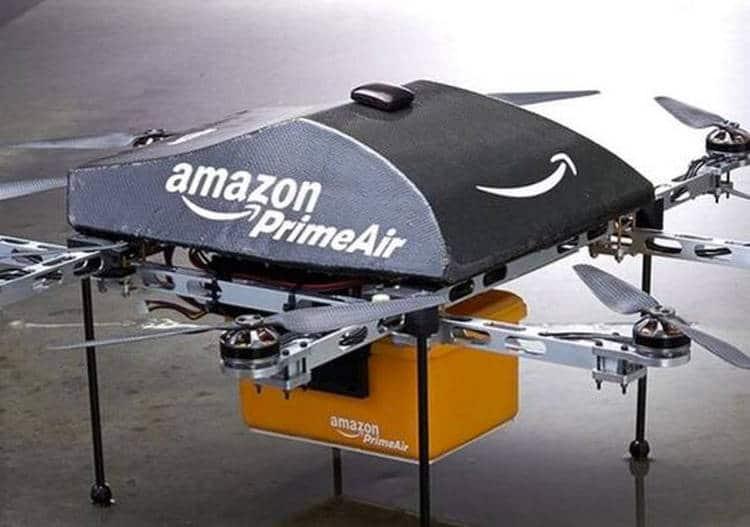 Un brevet d'Amazon divulgué sur Tweeter montre une station aérienne pour drones