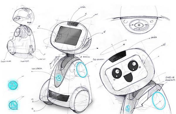 le robot compagnon de blue frogg robotics