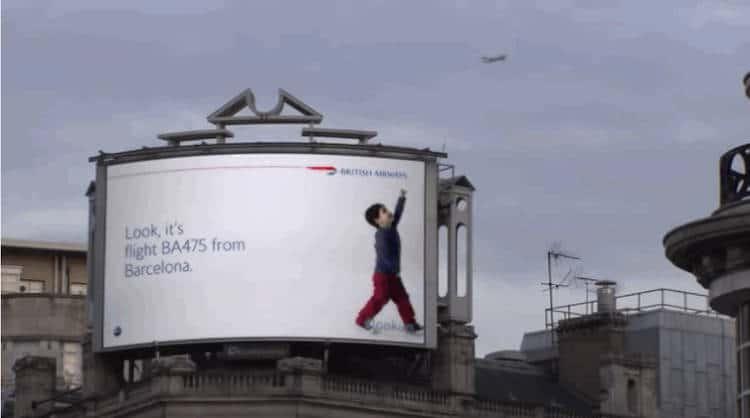 tableau publicitaire interactif