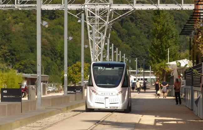 Navly le vhicule de transport en commun autonome de lyon