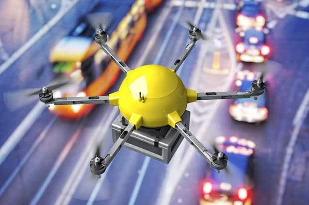 Amazon : une station aérienne de gestion des commandes pour drones
