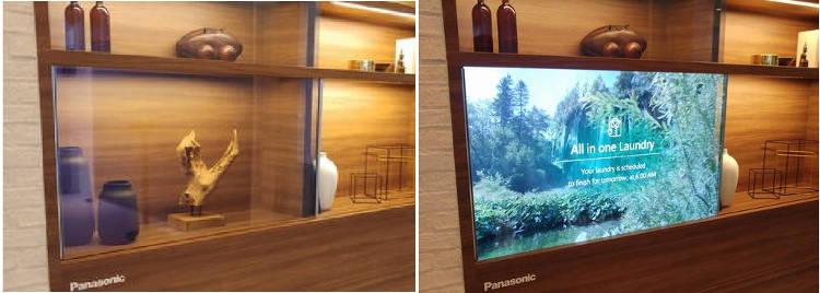 La vitre-écran de Panasonic attire le public