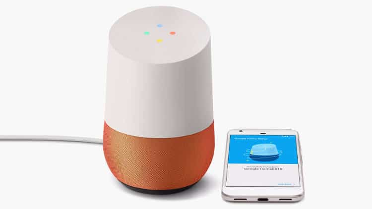 l assistant virtuel de google dans un objet connect. Black Bedroom Furniture Sets. Home Design Ideas