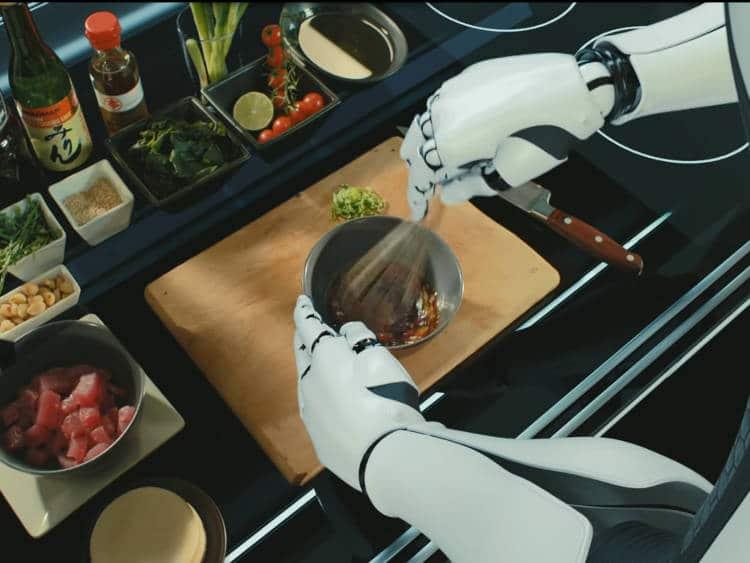 Tim Anderson, chef étoilé et professeur du robot cuisinier est très impressionné du résultat
