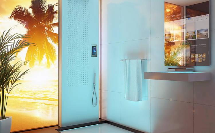 Maison du futur une salle de bain disco funk m decin et for Salle de bain du futur
