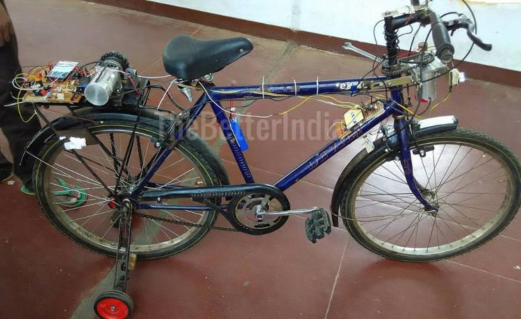 I-Bike, le vélo autonome conçu par des étudiants indiens
