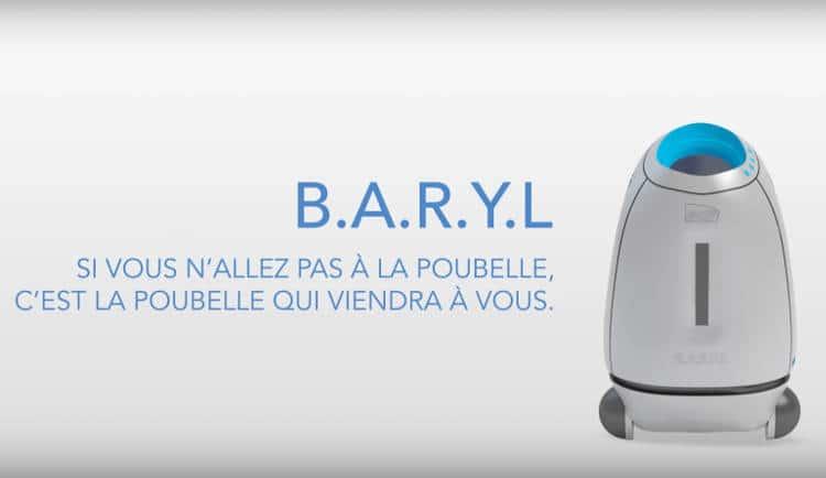 Baryl, un robot poubelle en gare SNCF pour sensibiliser à la propreté