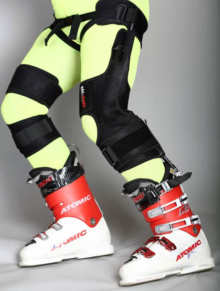 Ski-mojo se présente comme la première genouillère bionique pour le ski