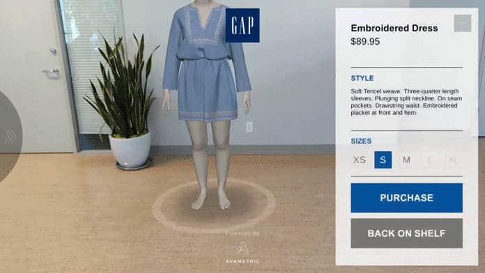 La réalité augmentée pour préessayer ses vêtements avant le passage en cabine