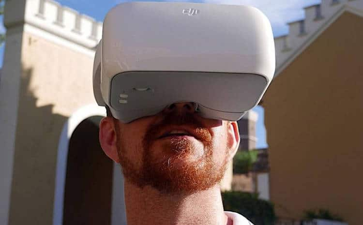 casque drone FPV DJI-4 Un casque comme si vous regardiez un écran de 2 mètres, à 3 mètres de distance