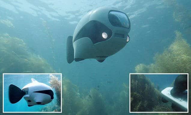 Votre drone aquatique prend des photos et des vidéos de haute qualité