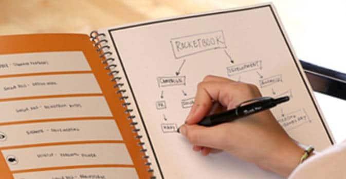 rocketbook Le carnet connecté est réutilisable grâce à votre micro-onde !