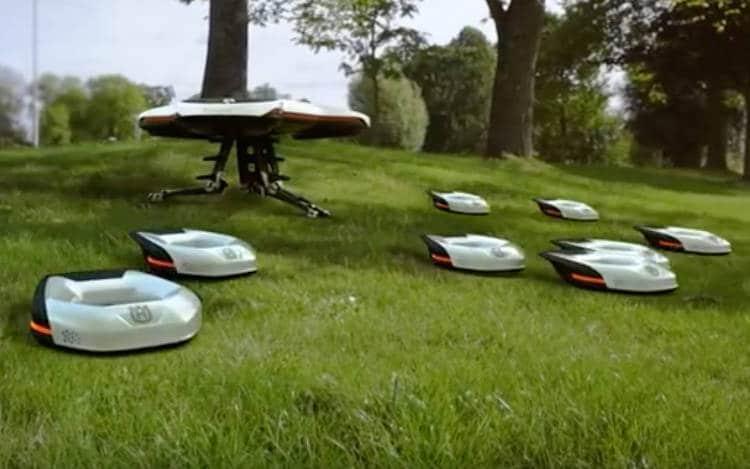 Un drone, 9 tondeuses-robots, un Cloud : le nouveau concept un peu fou pour entretenir les espaces verts