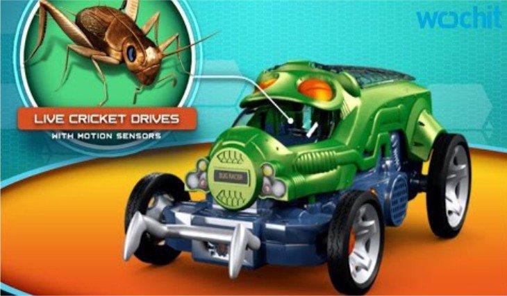 Une voiture pilotée par un insecte