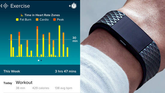 montre connectée fitbit charge 2